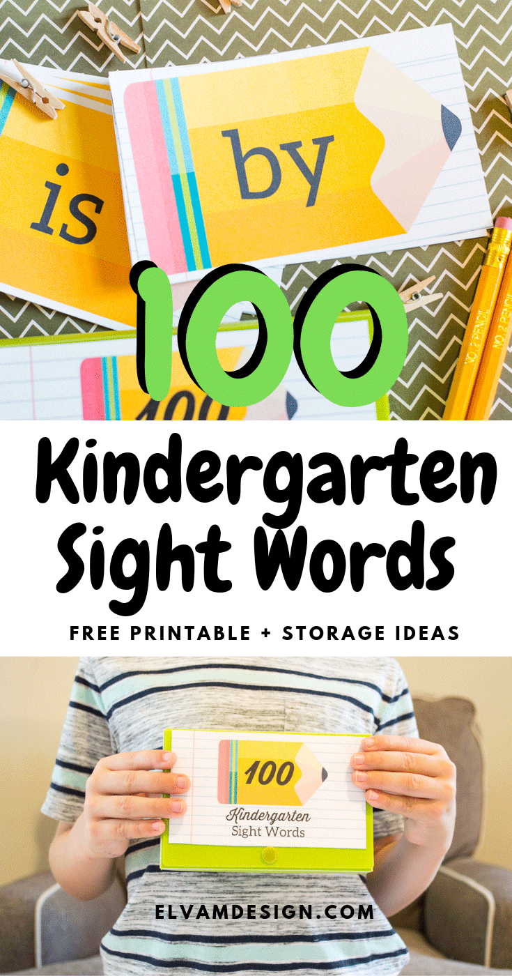 Free 100 Kindergarten Sight Words Printable
