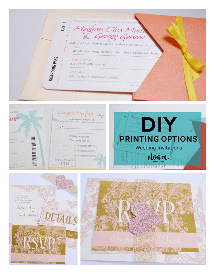DIY Wedding Invitation Printing