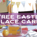 Free Easter Place Card (or Food Tents)