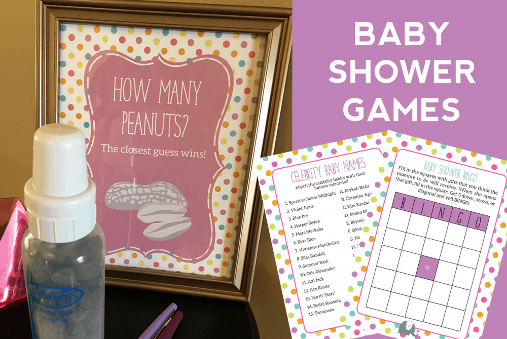 Elephant Theme Baby Shower Games
