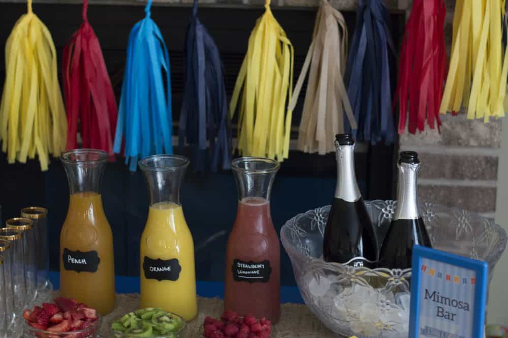 baptism mimosa bar juices