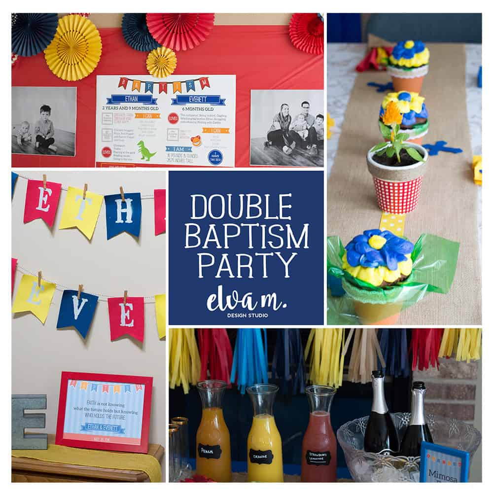 Double Baptism Party Collage