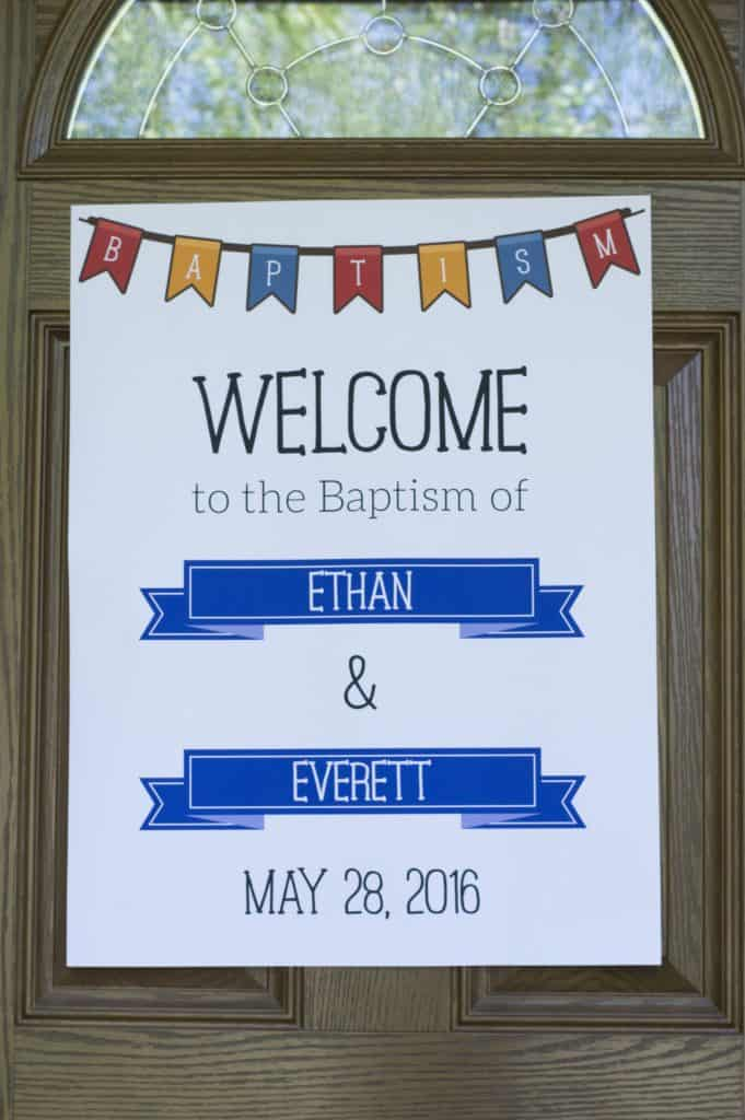 Baptism Welcome Sign