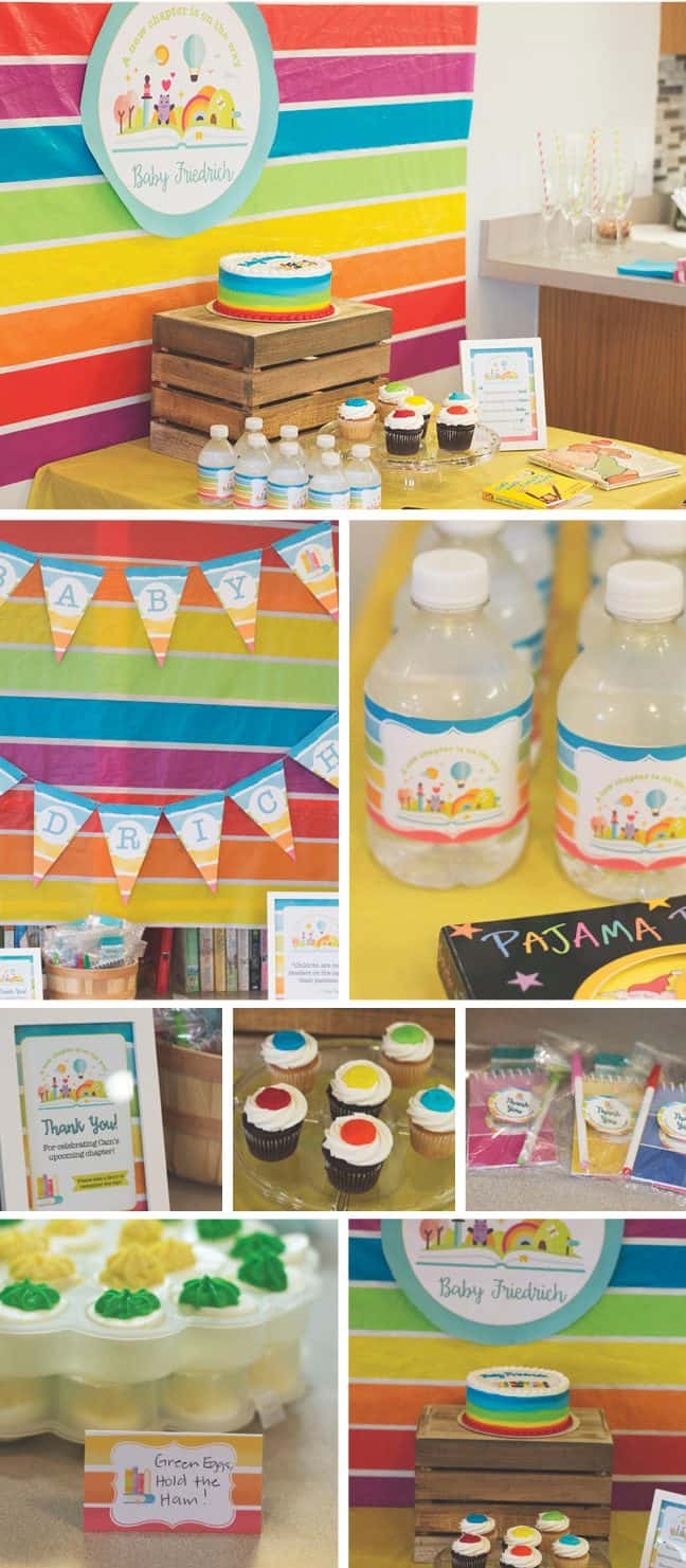 Rainbow Book Baby Shower