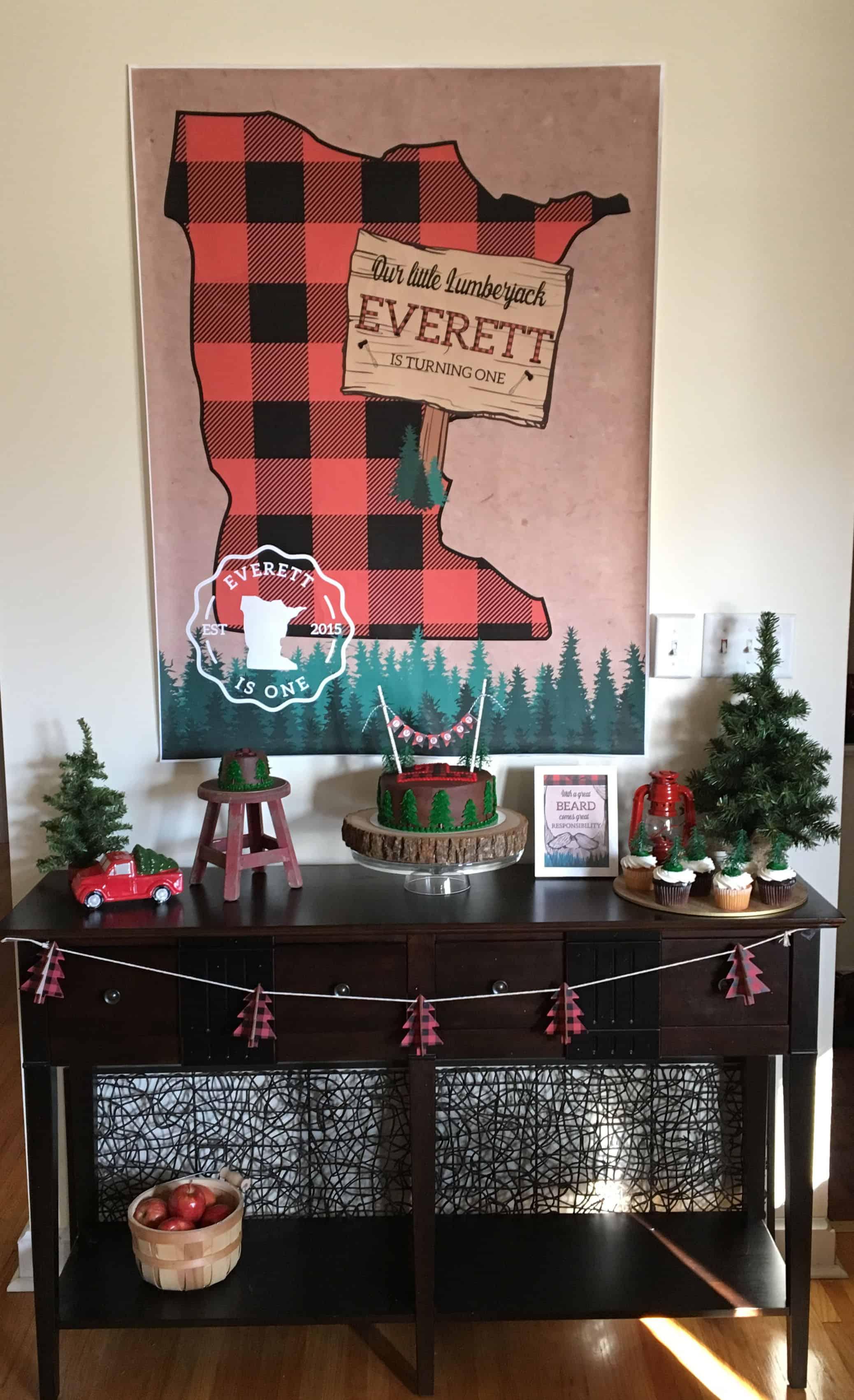 Lumberjack Birthday Party Table
