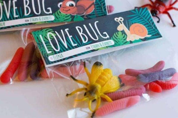 Free Printable Love Bug Treat Topper from Elva M Design Studio