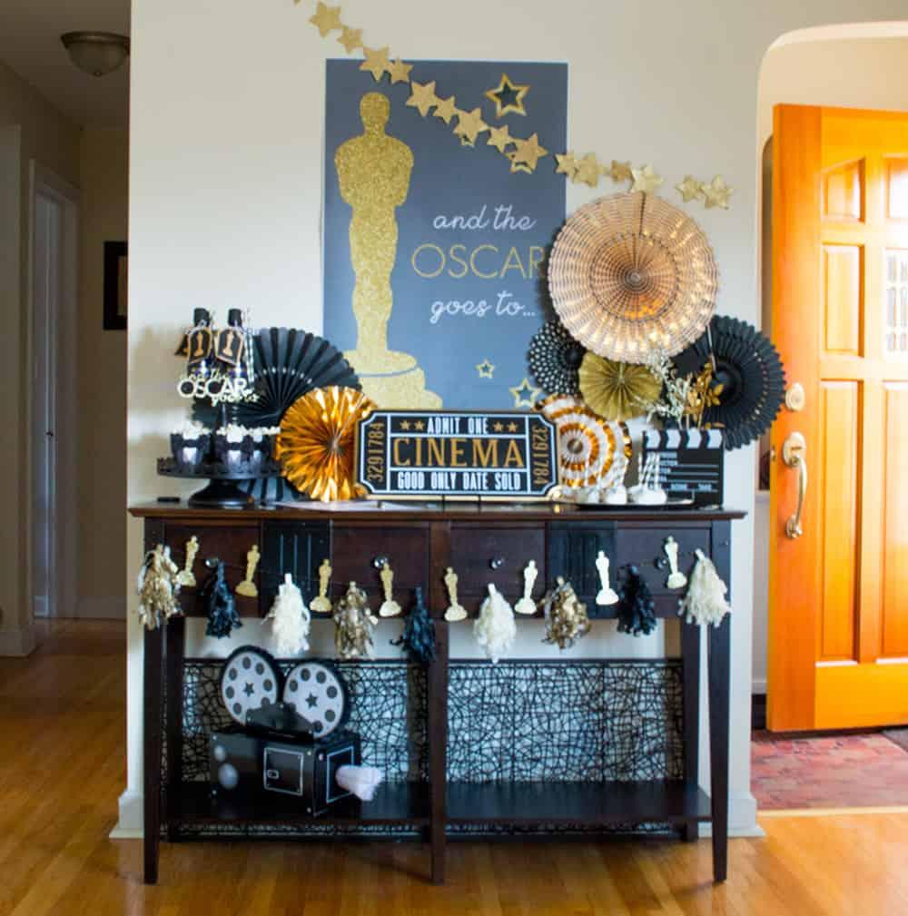 Oscar Party Table Scape by Elva M Design Studio