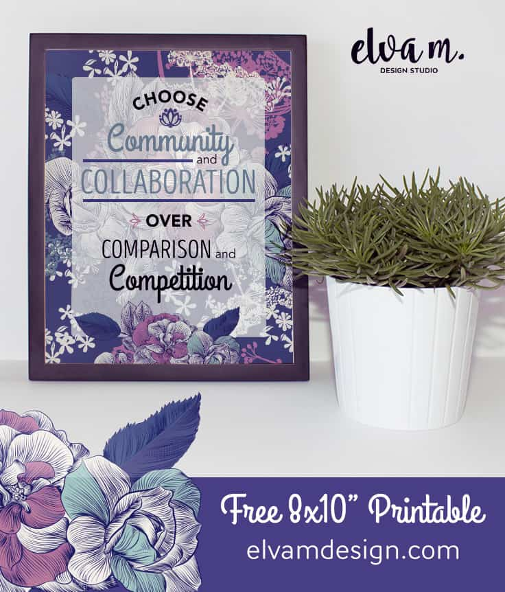 Free Community over Competition Printable