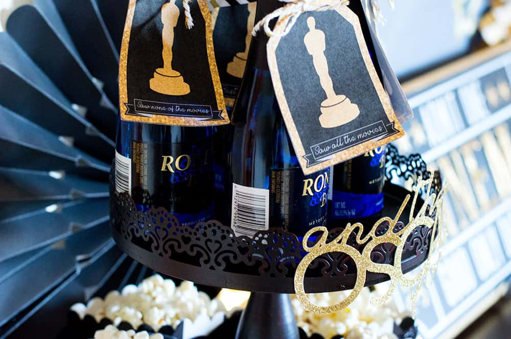 Champagne tags for Oscar Party