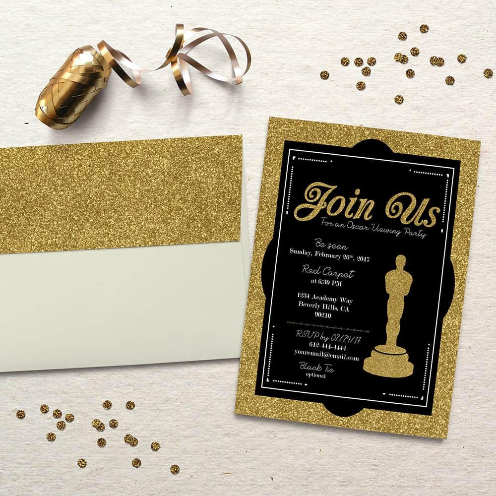 Oscar Party Invitation