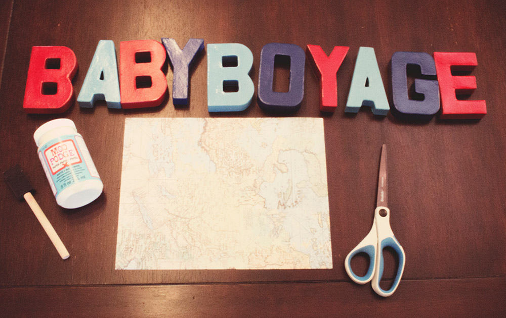Supplies for DIY Letters