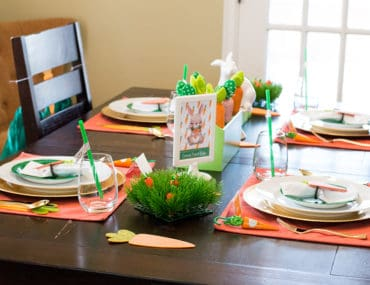 Carrot Patch Easter Table Setting