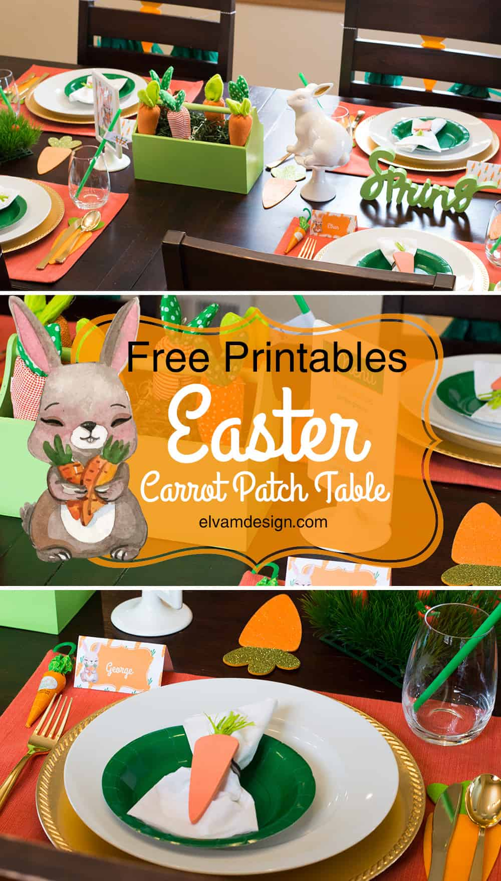 Free Printables Carrot Patch Easter Table