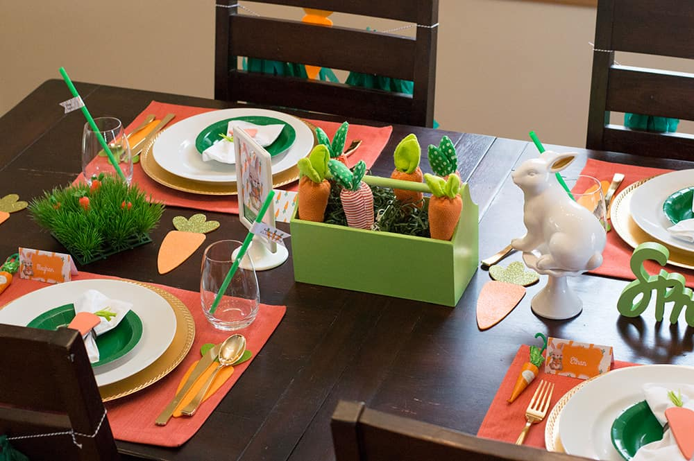 Carrot Patch Easter Table Settings