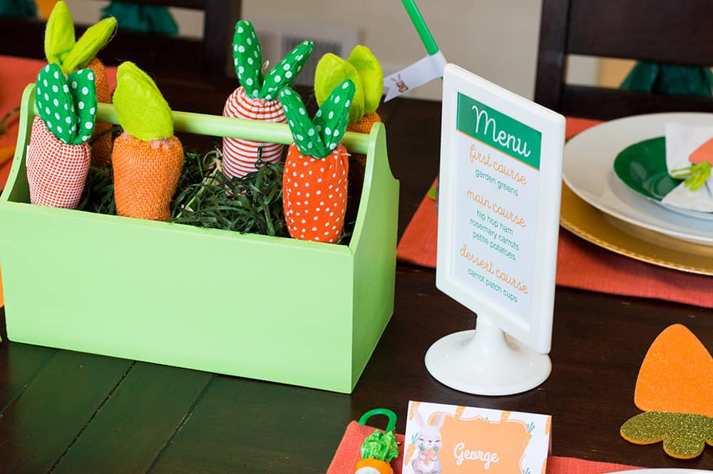 Carrot Patch Easter Table Centerpiece