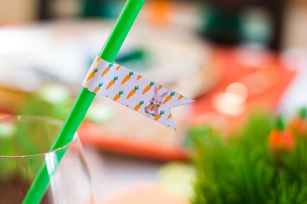 Easter Straw Flags