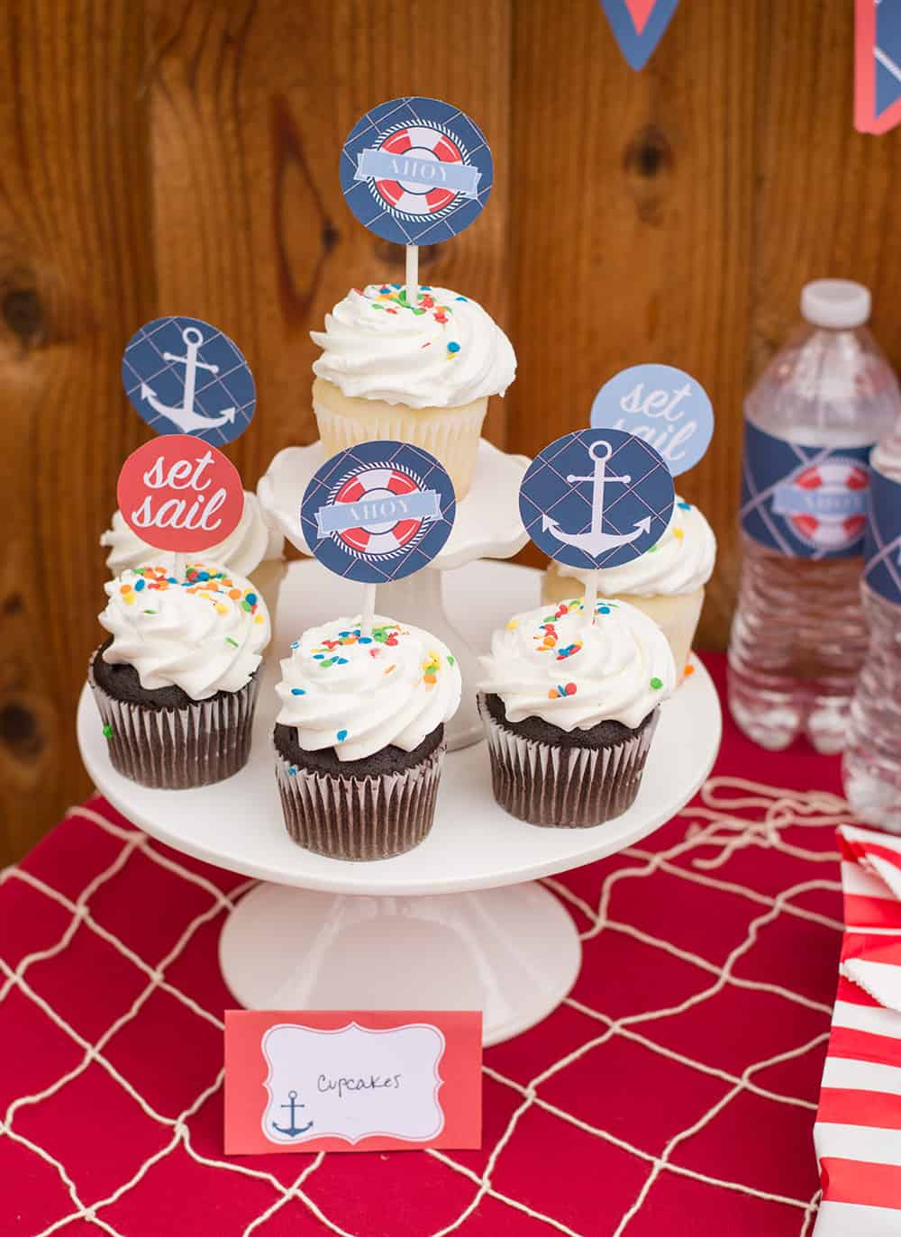 Free Nautical Cupcake Toppers