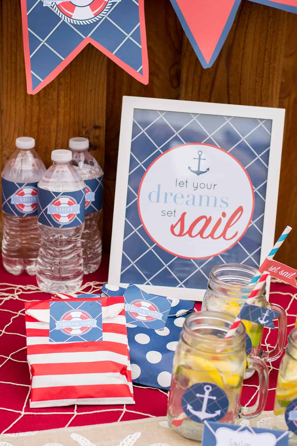Set Sail Party Sign in Nautical Party Printable for Catch My Party