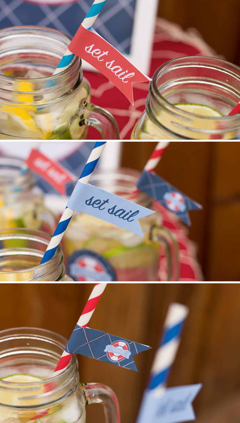 Nautical Straw Flags