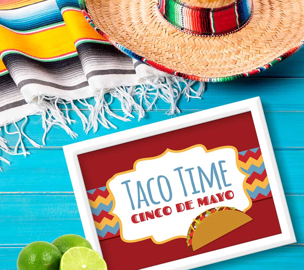 Taco Time Cinco De Mayo Party Sign
