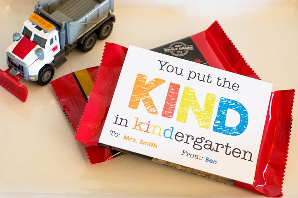 You Put the KIND in Kindergarten Teacher Appreciation Gift