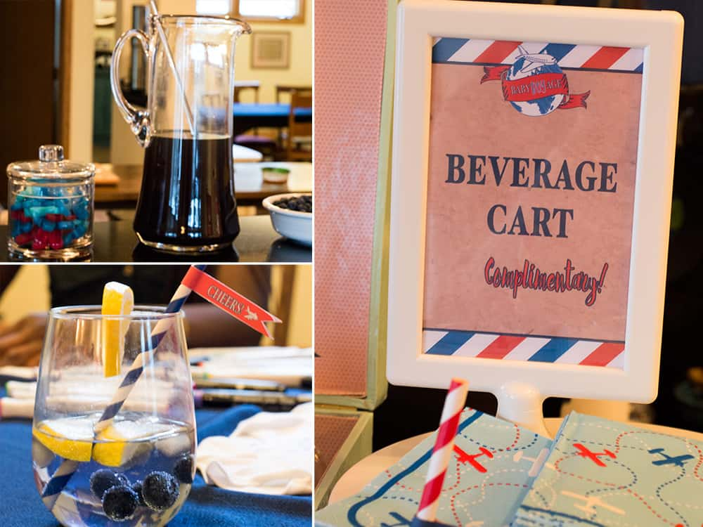 Baby Shower Beverage Cart sign