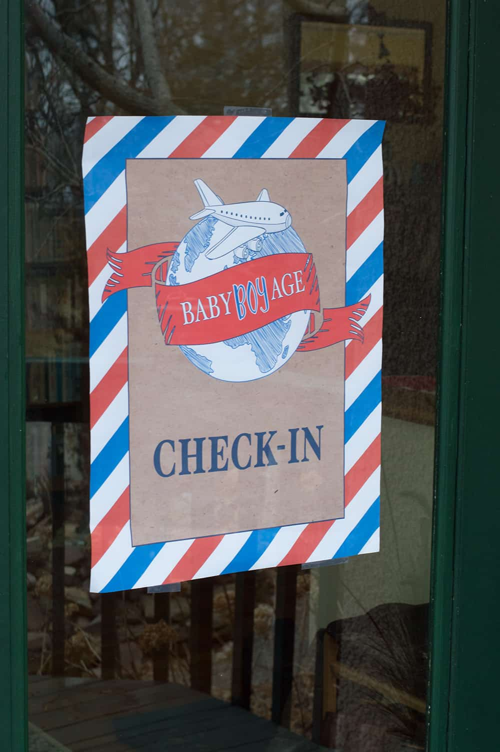 Baby BOYage Welcome Sign