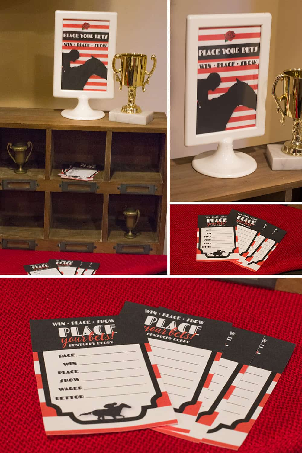 Kentucky Derby Betting Slips and sign. Download your free set at elvamdesign.com