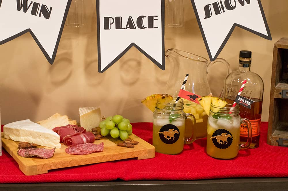 Kentucky Derby Drinks and Snacks