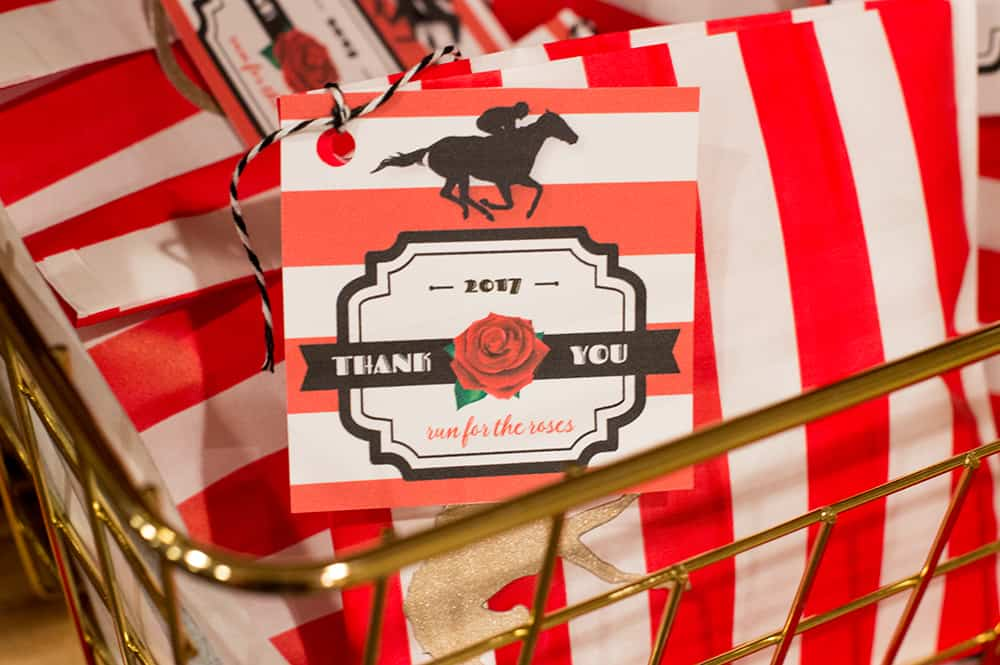 Kentucky Derby Party Favor Tag