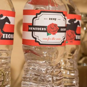 Kentucky Derby Party Water Bottle Labels