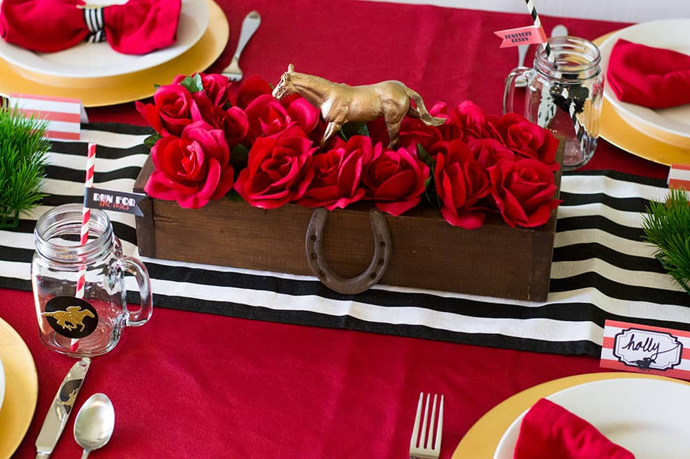 Kentucky Derby Party Centerpiece