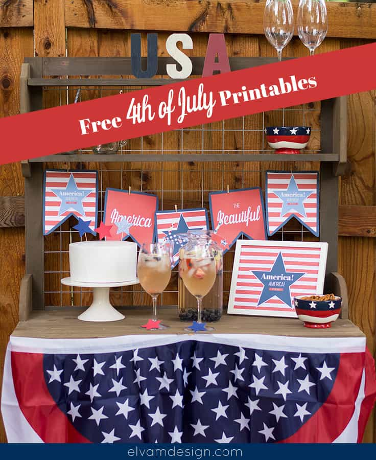 Printable 4th of July Decor
