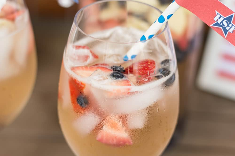 Rosé, White, and Blueberry Sangria