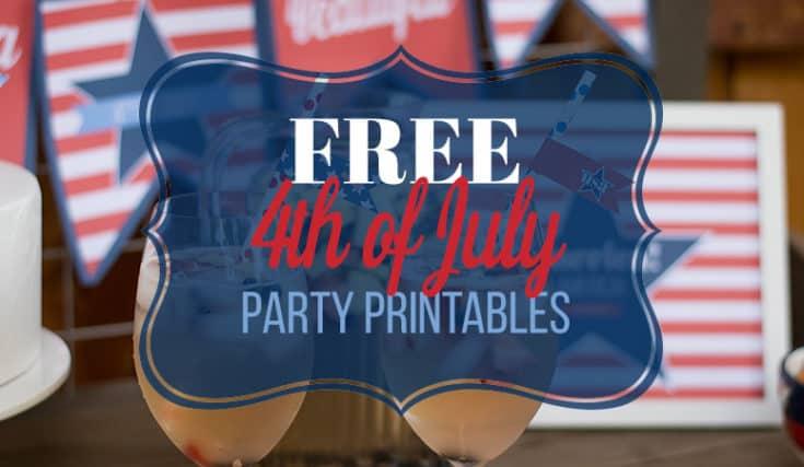 America, America: Printable 4th of July Decor