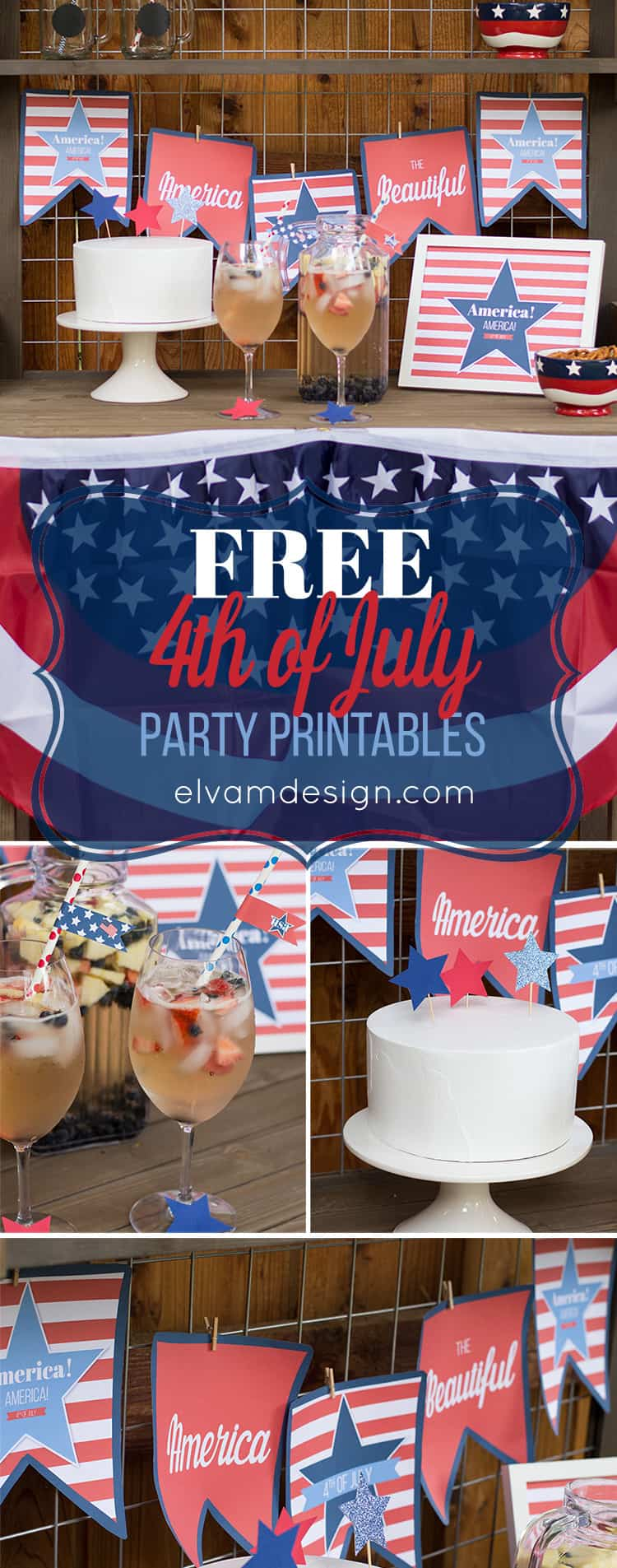 Free 4th of July Printables from Elva M Design Studio