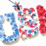 USA, all the way! DIY 4th of July Letters