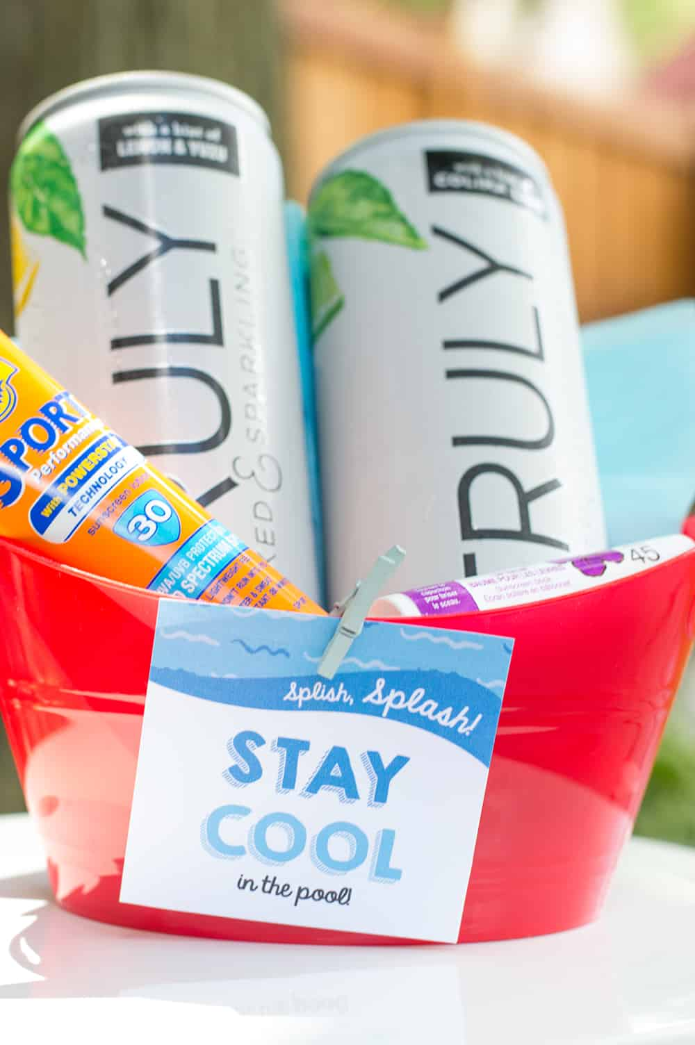 """Stay Cool in the Pool"" Pool Party Hostess Gift"
