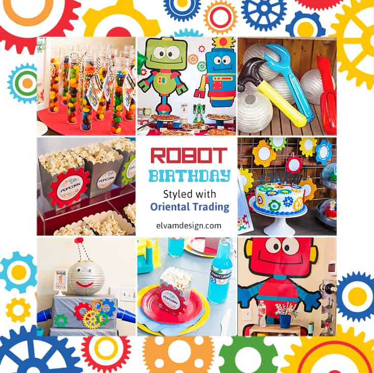Robot Party Supplies from Oriental Trading