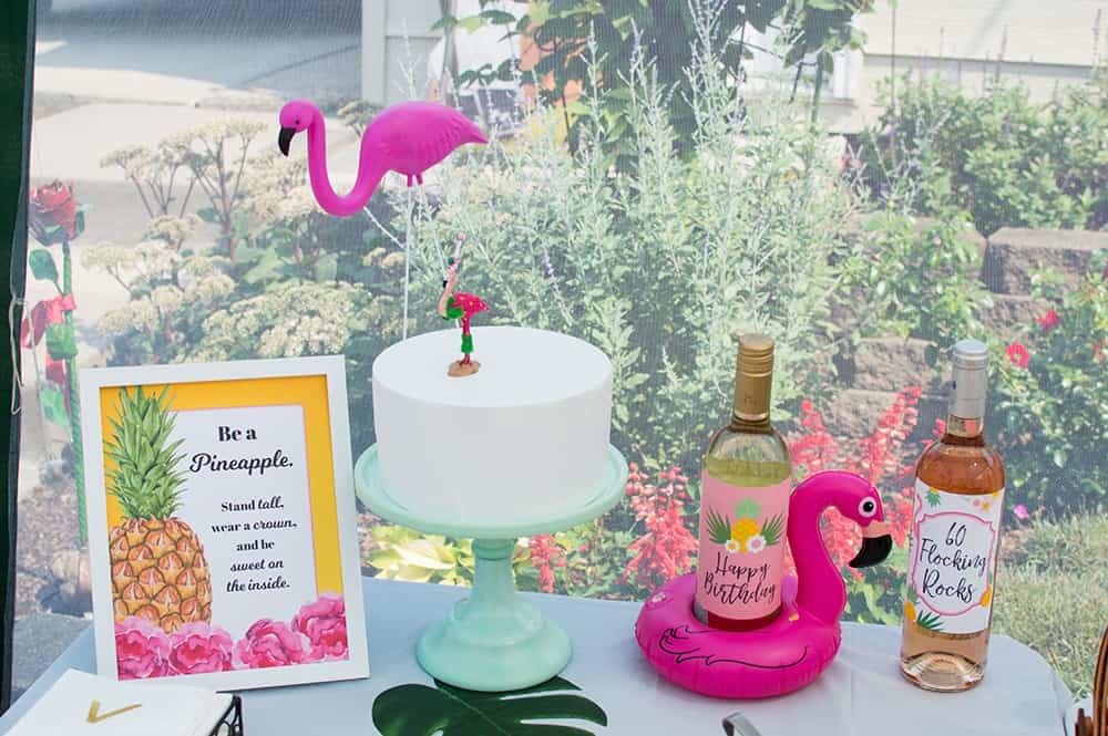 Pineapple and Flamingo Party Table