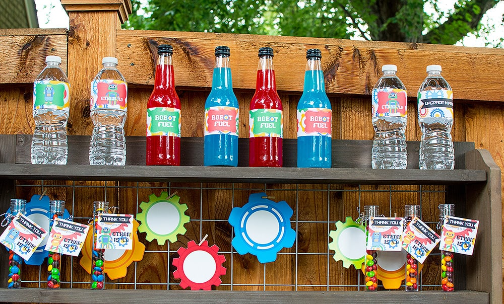 Robot drinks and party favors
