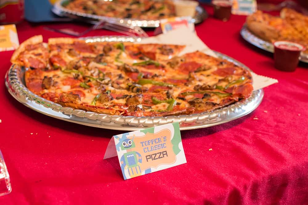 Robot Birthday Food Tent Cards