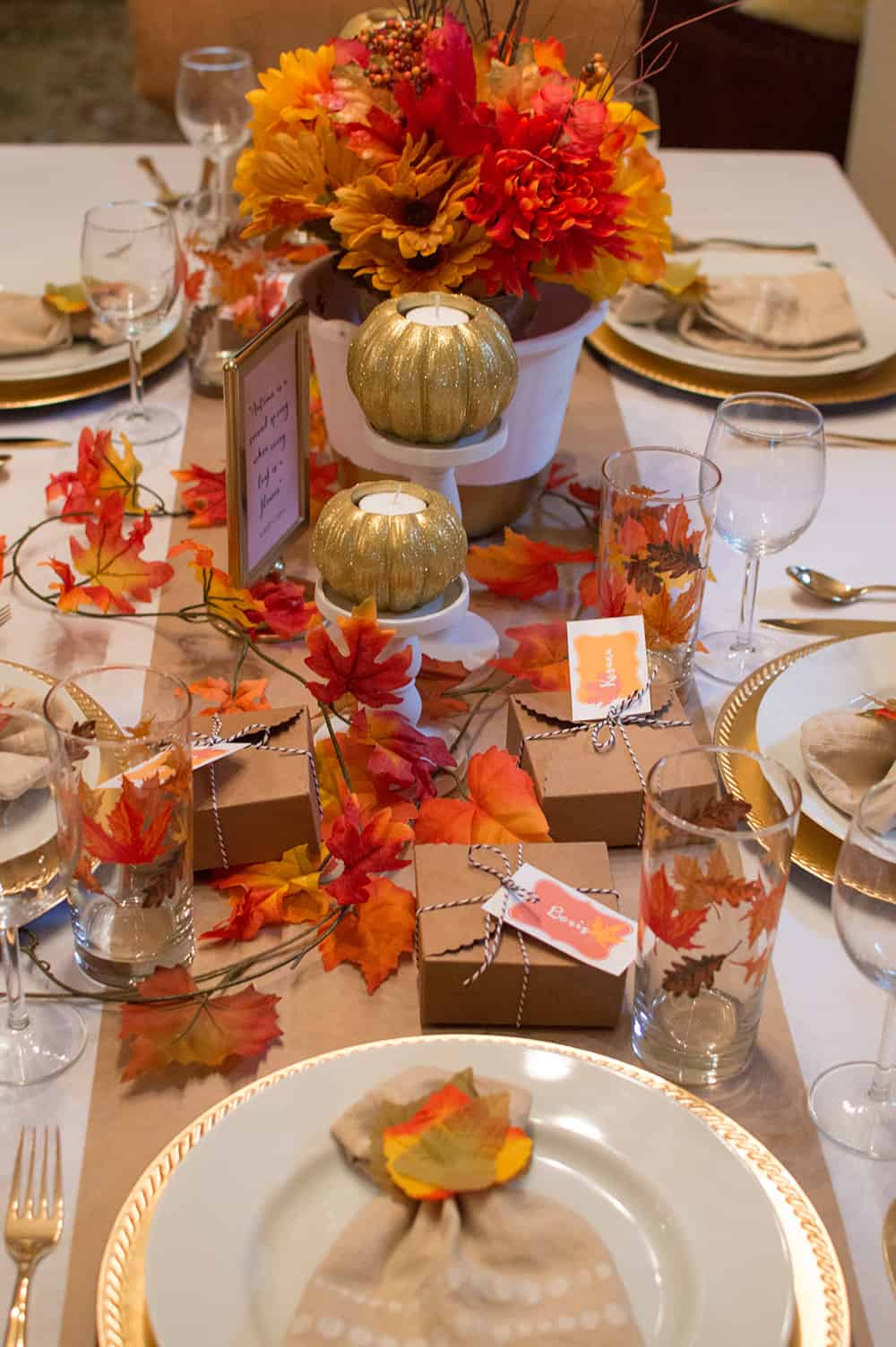 Festive Fall Tablescape for Thanksgiving