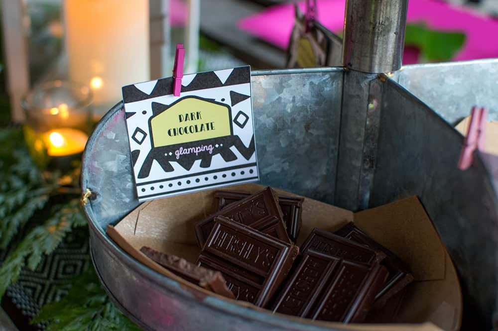 S'mores bar tags