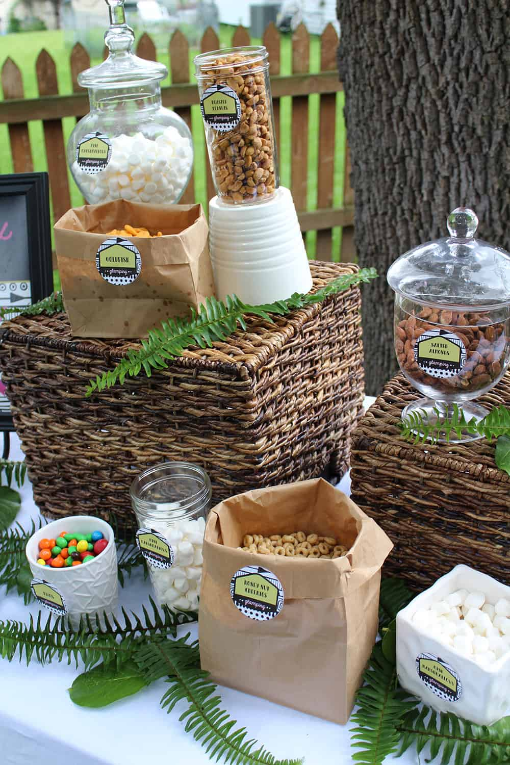 Girls Gone Glamping Trail Mix Bar Ingredients