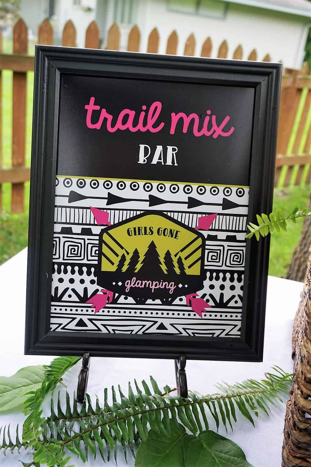 Trail Mix Bar Sign