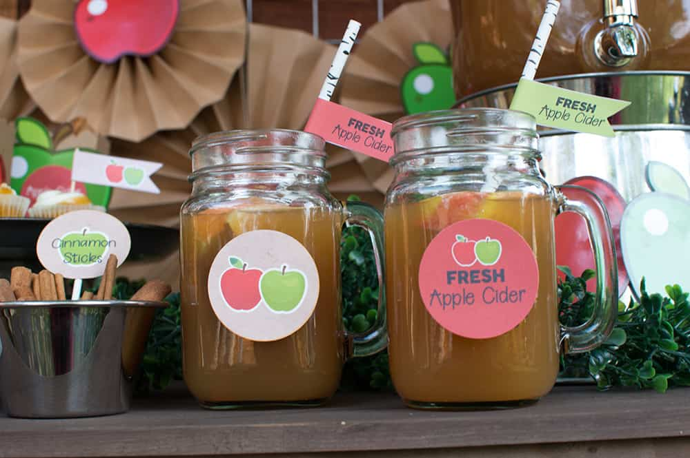 Fall Apple Cider in mason jars