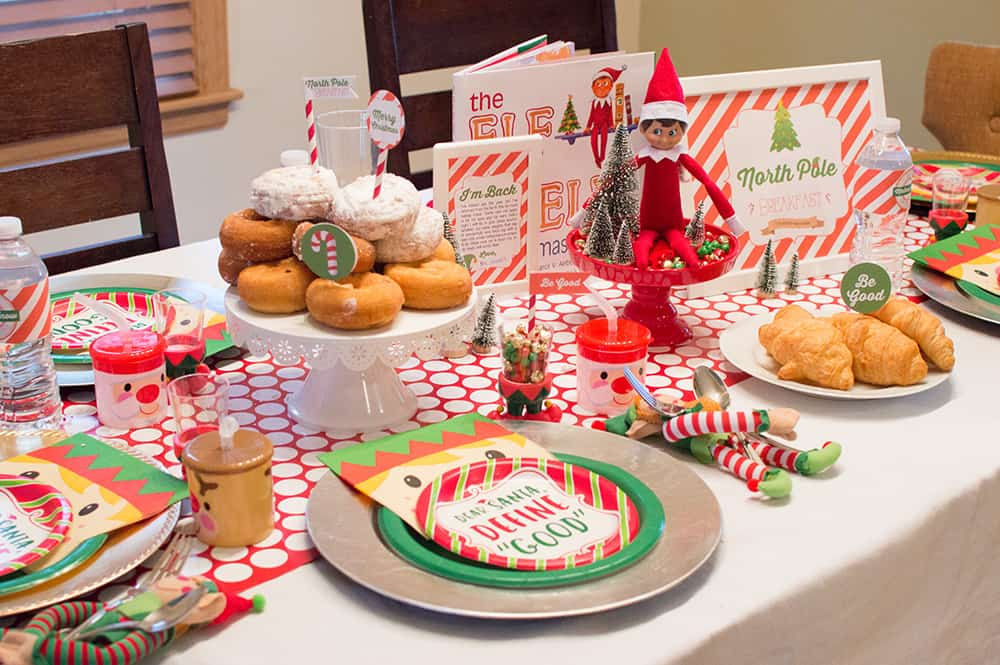 Welcome back Elf on the Shelf North Pole Breakfast by Elva M Design Studio