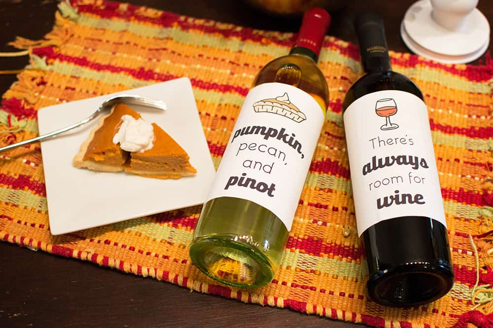 Free Thanksgiving Wine Bottle Labels