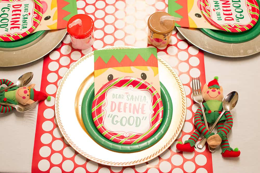 Elf on the Shelf North Pole Breakfast Place Setting